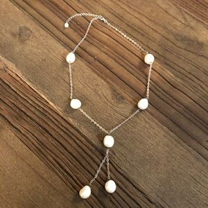 Sterling Silver and Mabe Pearl Necklace